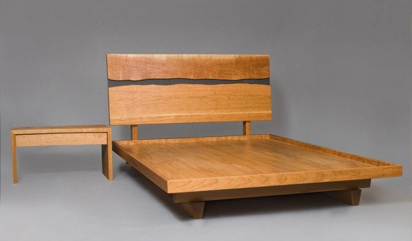 hardwood bed by Joshua Brassé