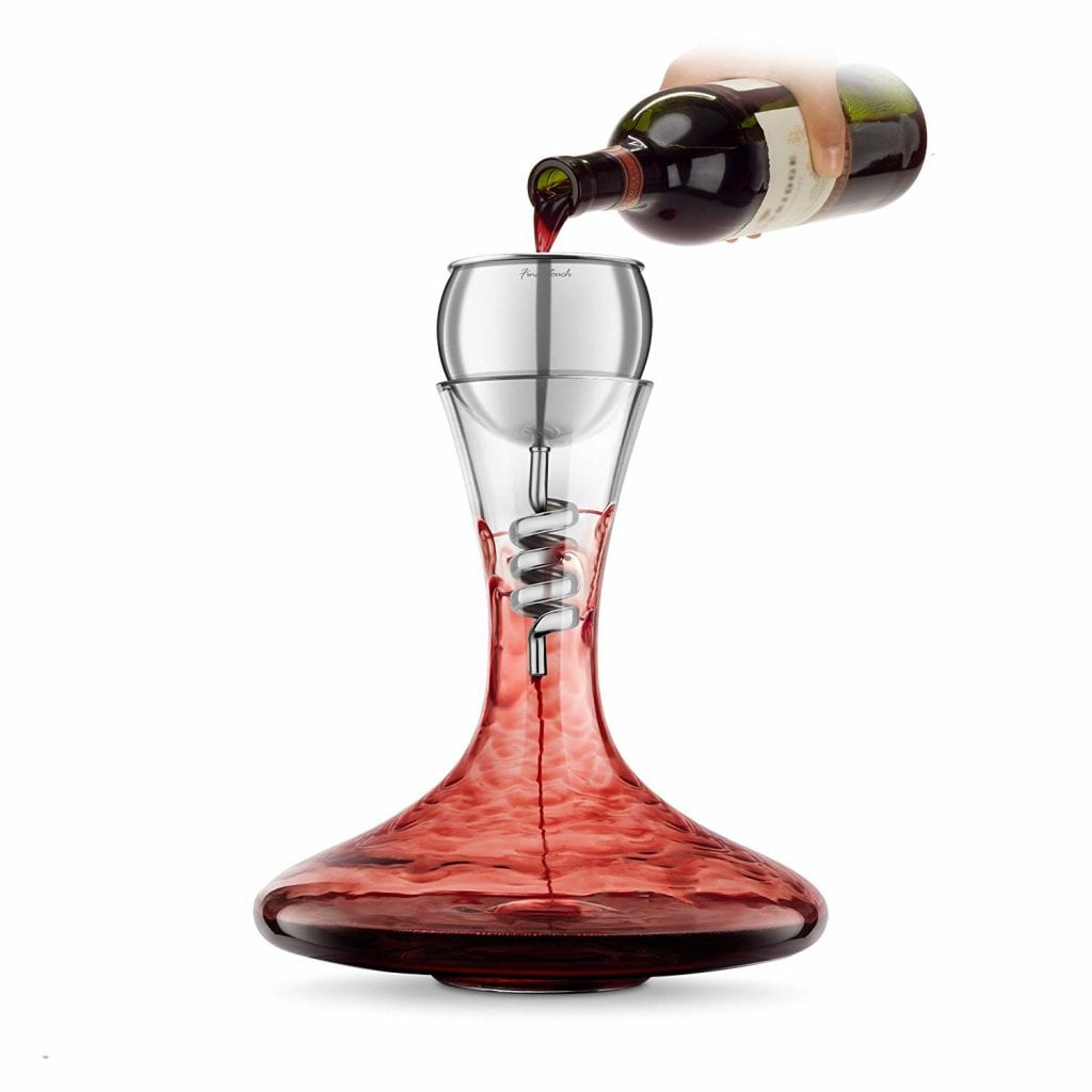 Stainless Steel Twister Aerator and Decanter - Exceptional Gift Ideas for Couples Who Have Everything