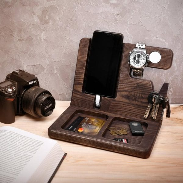 Personalised Wooden Organiser - Creative Gift Ideas For Men Who Have Everything