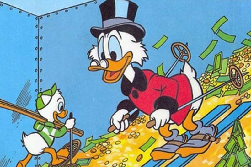 scrooge mcduck skiing people that have everything featured image