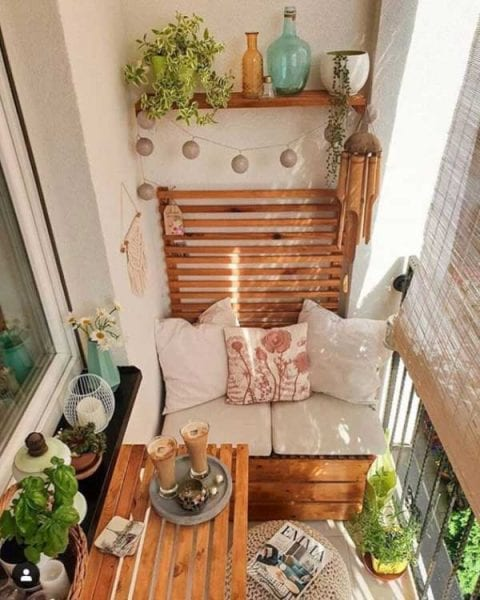 wooden pallet balcony furniture set
