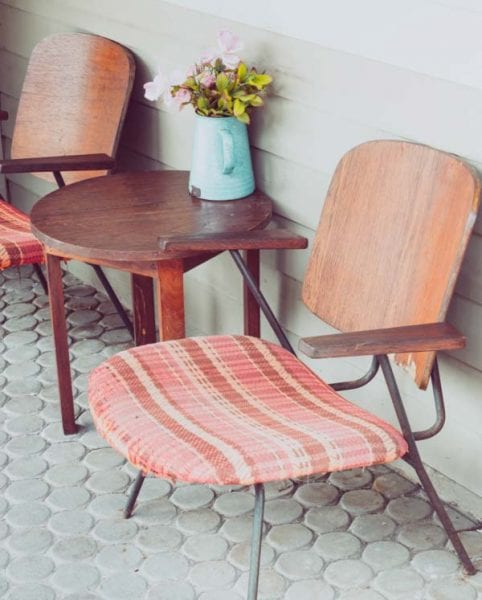 old vintage school chair