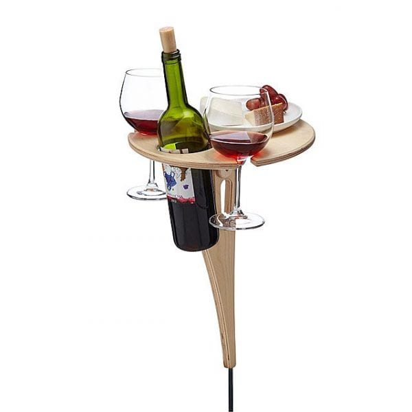 Folding Outdoor Wine Table - Fantastic Gift Ideas for Your Mom & Dad