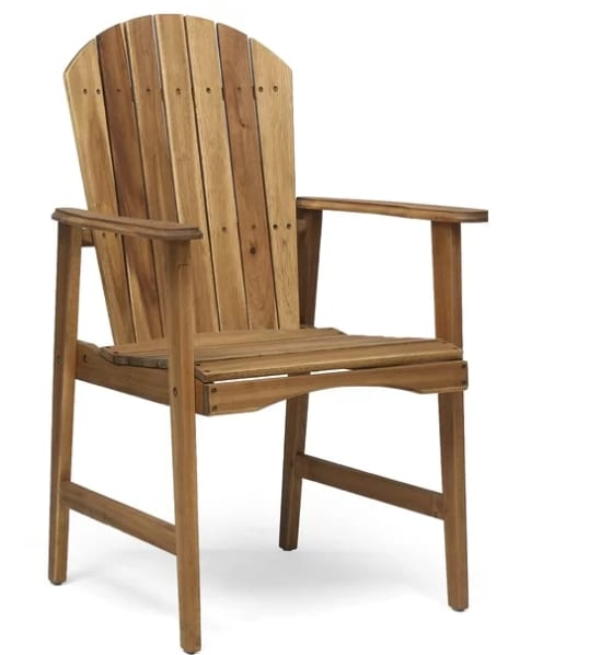 Rosalyn Outdoor Weather Resistant Adirondack Patio Dining Chair