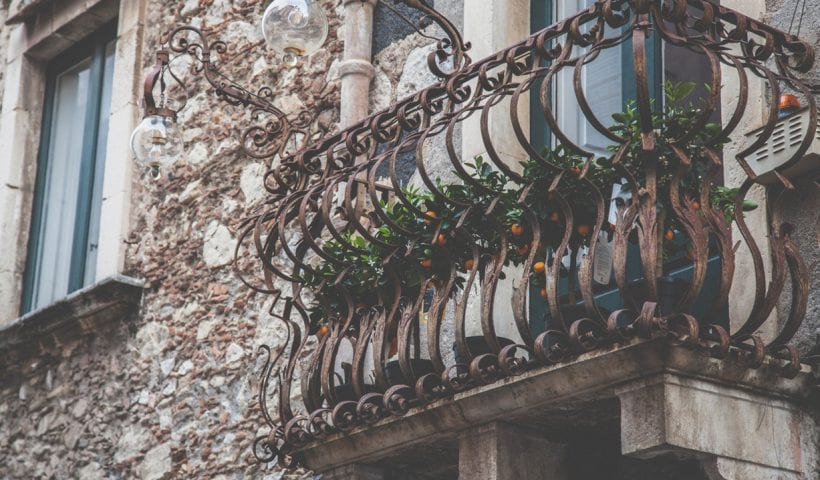wrought balcony decorative railing