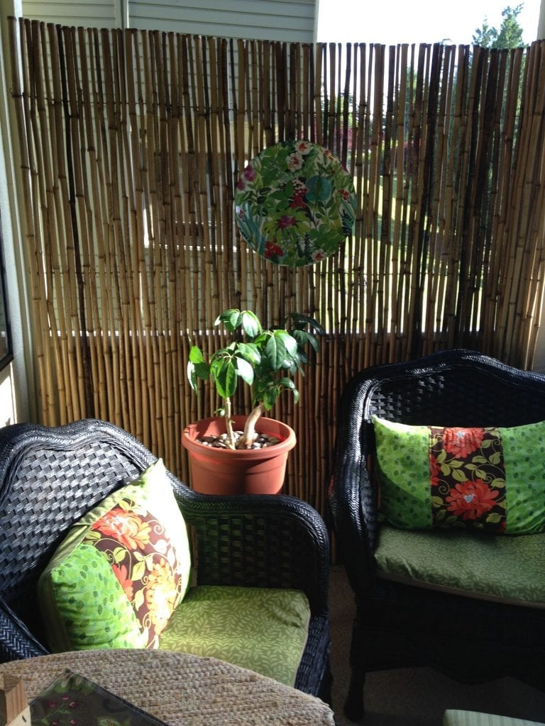 Bamboo screen balcony