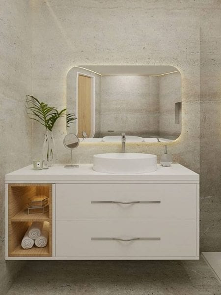 bathroom mirror dim ambient light
