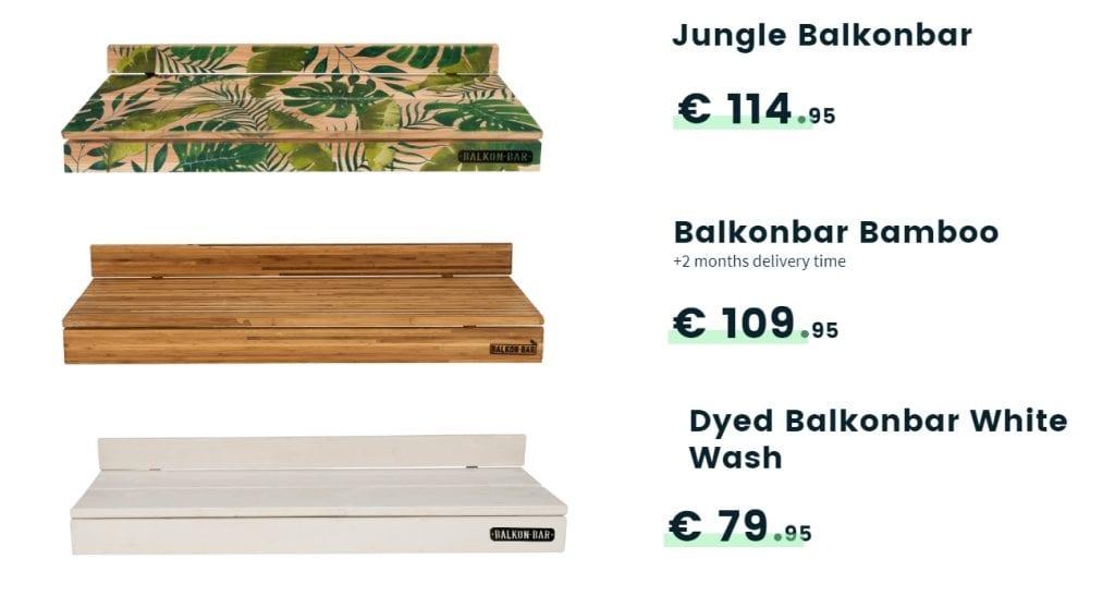 balkon bar products