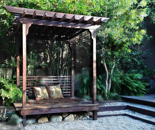 small backyard meditation